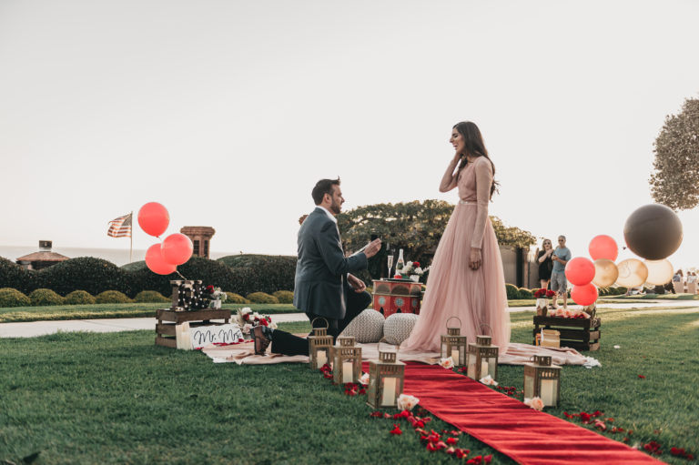 Corona Del Mar Marriage Proposal