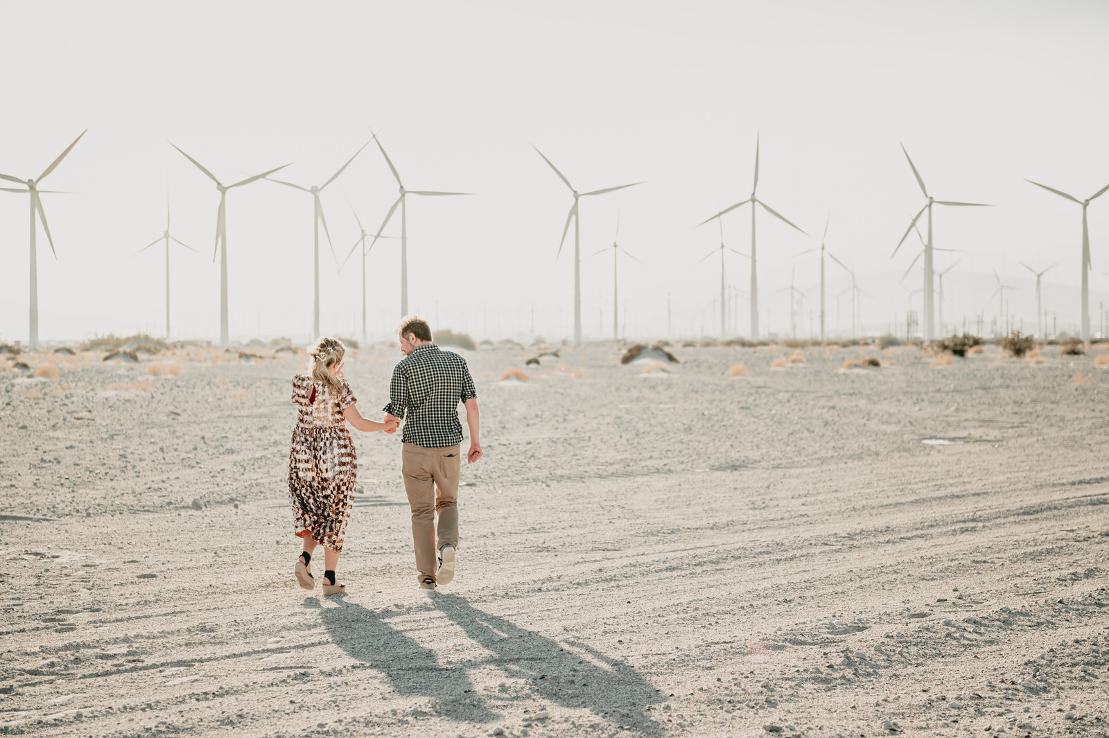 palm springs windmills engagement photos, engagement photos in palm springs